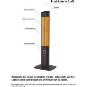 Stand Heizstrahler mit Fernbedienung - IC1200.RB