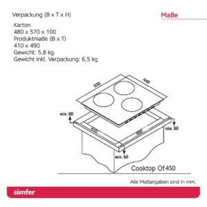 Elektro-Kochfeld SIMFER SMF-BIH 4501