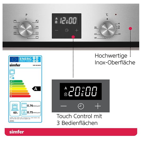 Einbau-Backofen SIMFER SMF-BO 6029