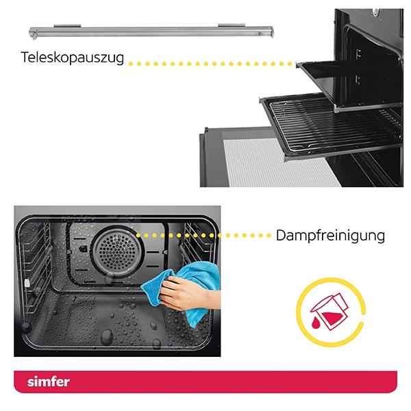 Einbau-Backofen SIMFER SMF-BO 6813 3