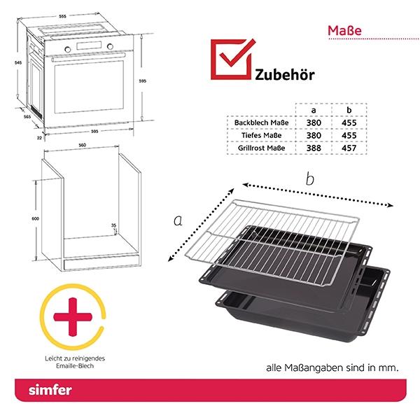 Einbau-Backofen SIMFER SMF-BO 6813 2