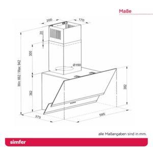 Dunstabzugshaube SIMFER SMF-CH 5658