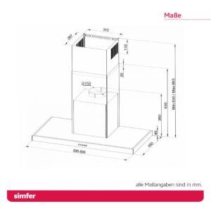 Dunstabzugshaube SIMFER SMF-CH 8633