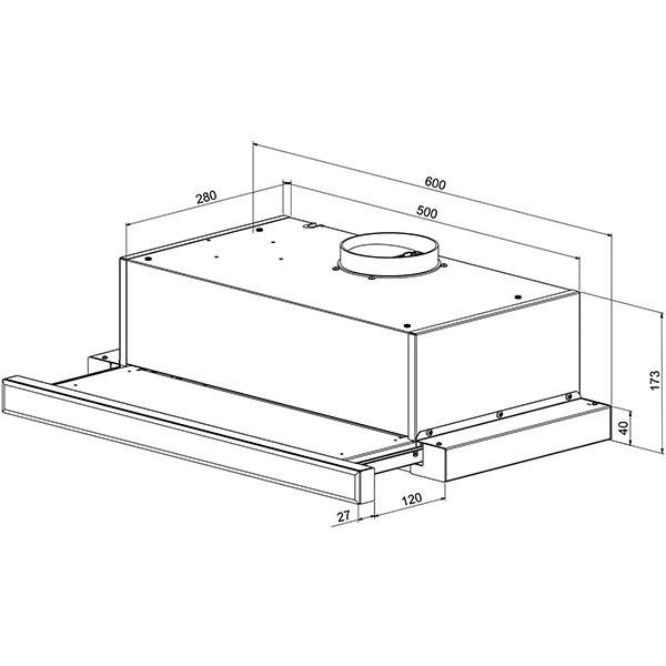 Flachschirmhaube SIMFER FH-8502