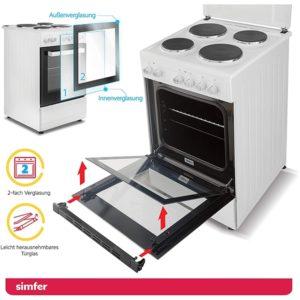 Standherd mit Elektrokochfeld SIMFER SMF-FS-3005