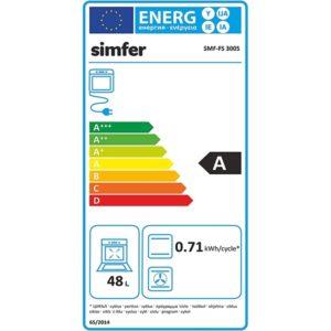 Standherd mit Elektrokochfeld SIMFER SMF-FS-4005