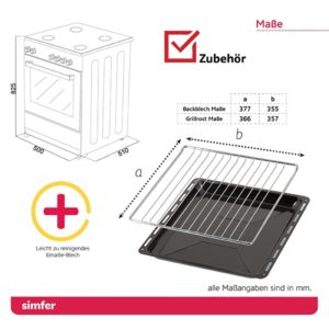 Standherd mit Cerankochfeld SIMFER SMF-FS-4227